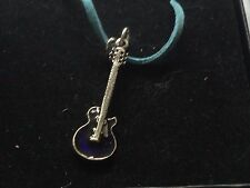 """Gibson guitar dr87 with blue  Made From English Pewter On 18"""" Blue Cord Necklace"""