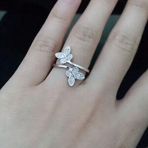 Silver Open Ring Adjustable Thumb Finger Toe Butterfly Women fashion