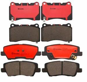 Brembo Front and Rear NAO Ceramic Brake Pad Set Kit For Cadillac ATS 2013-2014