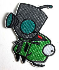 "Invader Zim & Gir Large 3.5"" Embroidered  Patch-FREE S&H (ANPA-ZIM & GIR)"