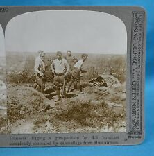 WW1 Stereoview Gunners Digging A Gun Position For 4.5 Howitzer Realistic Travels