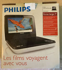 """Philips PET741W/37  7"""" LCD Car/Home Portable DVD Player Bundle w/ Chargers"""