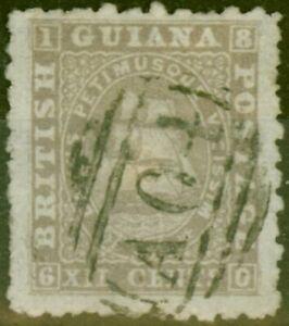 British Guiana 1865 12c Grey-Lilac SG65a P.10 Good Used Ex-Fred Small