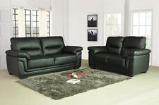 Kansas Leather Sofas 3+2+1 Seater Sofa Set Suite Black Brown 3Piece Couch Settee