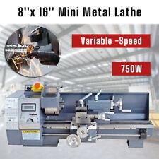 110v 8x16 750w Variable Speed Mini Digital Metal Lathe Bench Precision Usa