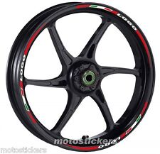 YAMAHA FZ1 - Adesivi Cerchi – Kit ruote modello tricolore corto