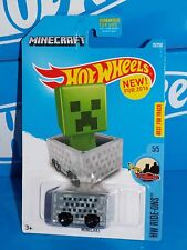 Hot Wheels Diecast New For 2016 HW Ride-Ons MINECRAFT Minecart Grey