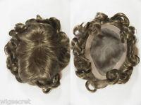 Medium Monofilament Wavy Straight Blonde Brunette Red Grey Toupee 6.75 x 9
