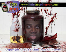 """Cut Curtis""  Head in Jar - Horror Art / Halloween Decor / Haunted House Prop"