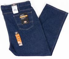 Dickies Regular Fit Straight Leg Mens Work Jeans Dark Wash Size 46x30