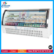 "82"" Refrigerator Bakery Case Deli Case Pastry Case Display ShowCase Nsf New"