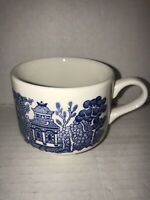 "Churchill Made in England Blue Willow Coffee Tea Cup Mug Ceramic 3"" H"