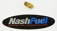 """MALE 1/4"""" NPT TO MALE 9/16 LEFT HAND PROPANE NATURAL GAS FITTING LPG 9/16LH PIPE"""