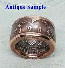 Handmade Coin Jewelry, Copper 1964 JFK Ring, One AVDP Ounce .999 Fine Copper