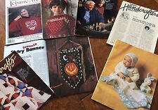 Lot Of 7 Craft Magazines, Handcraft ,leisure Arts,1980's Quilting And Sewing