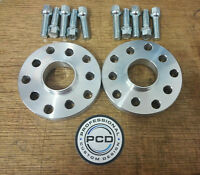 15mm VW AUDI 5x112 OR 5X100 Hubcentric Wheel Spacers, 57.1 bore &10 RADIUS Bolts