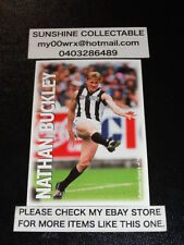 PRO SQUAD OPTUS VISION AFL COLLECTOR CARD NO.6 NATHAN BUCKLEY COLLINGWOOD