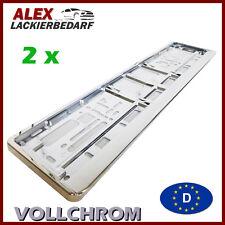 2 x PKW Kennzeichenhalter CHROM  VOLLCHROM