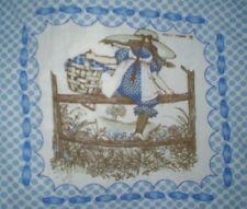 Vintage Genuine HOLLY HOBBIE Fabric Panel #1 (27cm x 27cm) Trademarked