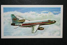 Lockheed L 1011 Tristar  Wide Bodied Jet Airliner  Illustrated  Card   #  VGC