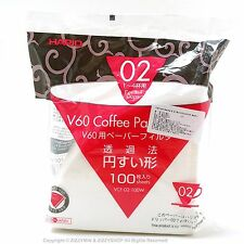 HARIO V60 02 hand drip brewer paper coffee filter -WHITE