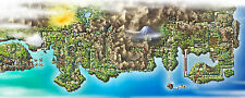 Pokemon   johto and kantor 22 inch  x 34 inch ( Fast Shipping )  MAP