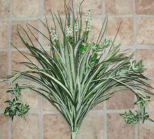 White Lavender Home Office Decor Artificial Silk Spider Plant Combo Silk Bush