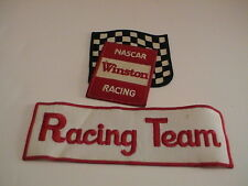 LOT /2 WINSTON NASCAR & RACING TEAM GAS GASOLINE OIL AUTOMOBILE PATCHES USED