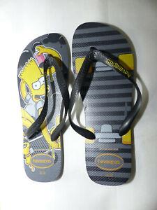 Neue Havaianas Simpsons Zehentrenner Sandale Badelatschen Gr 47/48 Bart Design