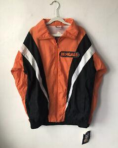 vintage cincinnati bengals windbreaker jacket youth size XL deadstock NWT 90s 🐯
