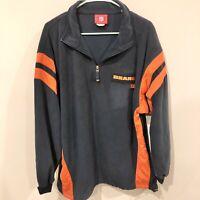 Vintage 90s Chicago Bears 1/4 Zip NFL Pullover Sweater Jacket Men's XL Excellent