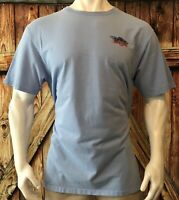Columbia PFG Men's XLT Tshirt Blue Short Sleeve Tall Fishing Gear Cotton