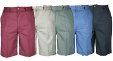 Mens Casual Chino Style Walk Shorts Elasticated Sides 32-54 Comfort Fit Summer