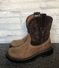 Ariat Fatbaby Brown Leather Cowboy Boots Womens Size 7.5 B 10000824