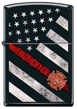Pompier Rescue Drapeau Américain Noir Mate Heroes Briquet Zippo