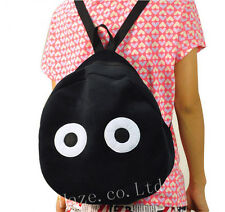 Child Kids My Neighbor Totoro Dust Bunny Backpack Schoolbag Rucksack Black