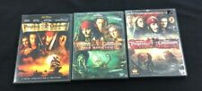 Pirates of the Caribbean Movies Dvd Lot 1 2 3 Black Pearl Dead Man Worlds End