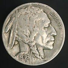 1936-S/S Buffalo Nickel RPM-002 Variety Nice Bold Original Error! GC557