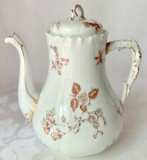 RARE c1881 ANTIQUE CHARLES FIELD HAVILAND LIMOGES COFFEE POT, EARLY GDM MARK