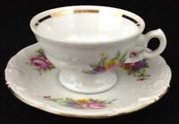 Royal Kent Poland Porcelain 1 Demitasse Cup & Saucer Floral Enchantment Roses