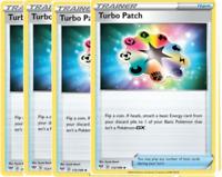 4x Turbo Patch 172/189 Darkness Ablaze Pokemon Playset x4 Uncommon NM