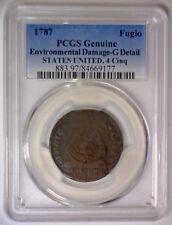 """1787 Fugio Colonial Copper """"States United, 4 Cinquefoils"""" ~ PCGS Good Det."""