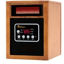 Portable Space Heater Infrared Remote Control Energy Efficient 1500 Thermostat