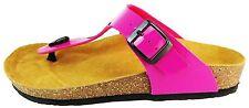 Tamaris Damen UK 6 Pink & Schwarz Patent Strand Flip Flops Zehensteg Tanga Sandalen
