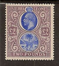 SIERRA LEONE 1912-21 KGV £2 BLUE & DULL PURPLE SG129 MINT
