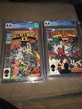 Secret Wars II #7 and #8 CGC 9.4 And 9.0