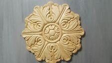 """Birch Wood Applique - Large Round Medallion 5"""""""