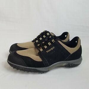 Footjoy Cooljoys 45636 Mens Beige Black Soft Spike Golf Shoes Breathable Sz 11