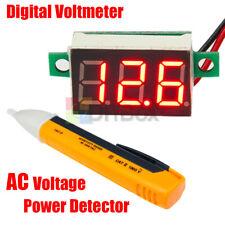 Ac Voltage Power Detector Dc 47 32v Mini Red Led Panel Voltage Meter Voltmeter