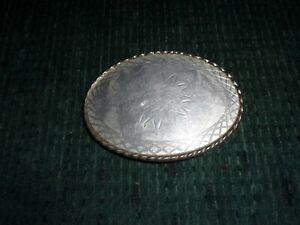 Oval Belt Buckle with Etched Design W-USA